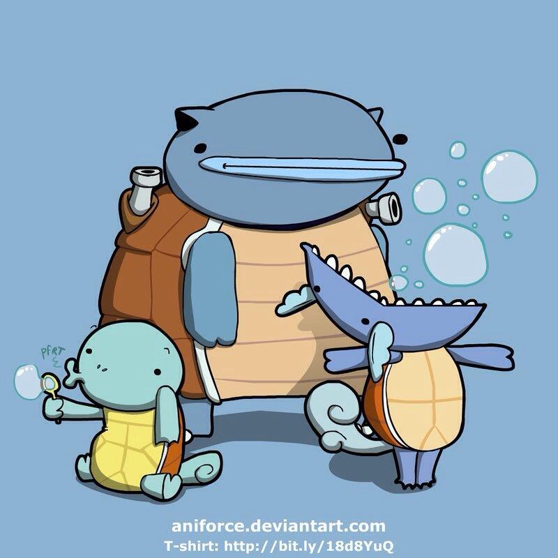 Artist alley herp derp pokemon nerdy ninja platypus - Derpy squirtle ...