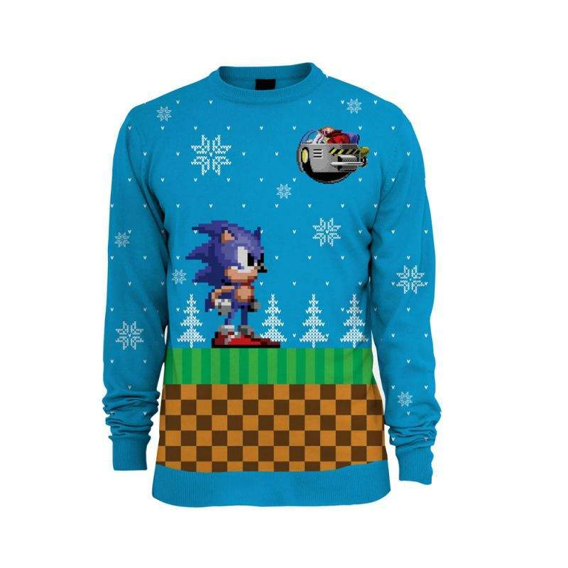 Nerdy Christmas Jumpers Sonic