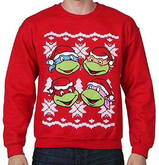 Nerdy Christmas Jumpers TMNT