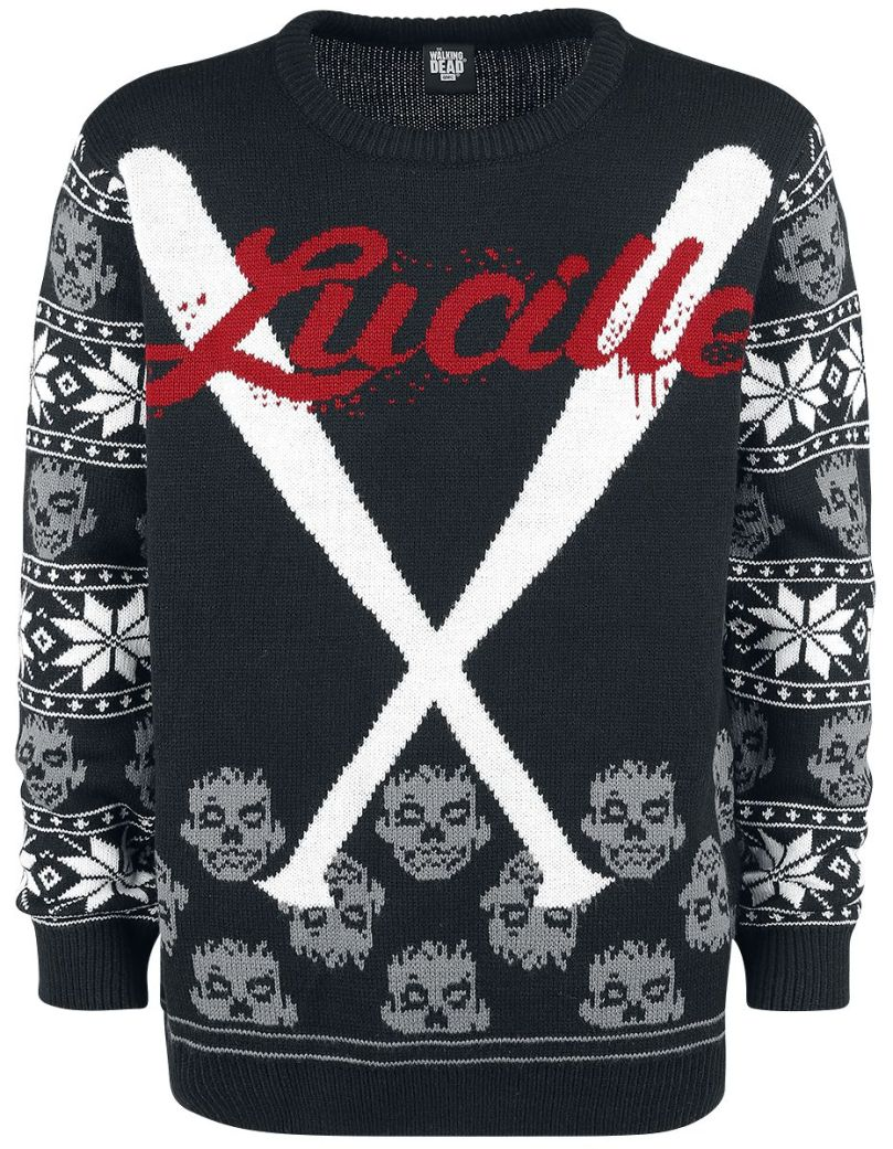 Nerdy Christmas Jumpers Walking Dead Lucille
