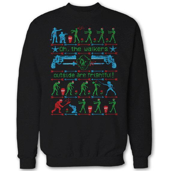 Nerdy Christmas Jumpers Walking Dead