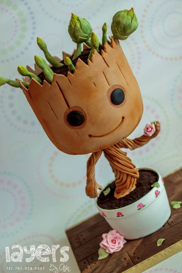 How To Airbrush Buttercream Icing Groot Cake