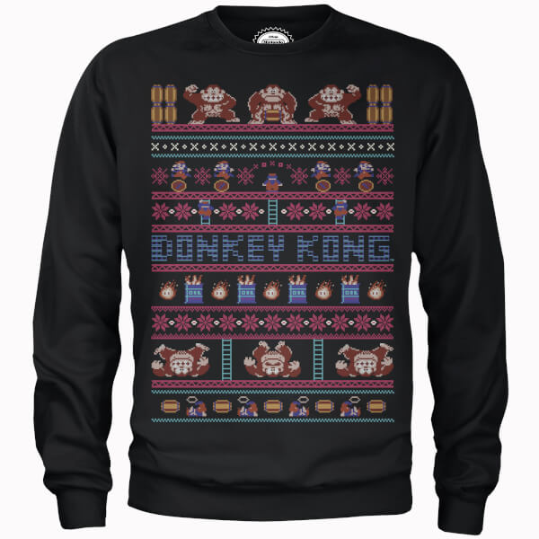 Nerdy Christmas Jumpers Donkey Kong