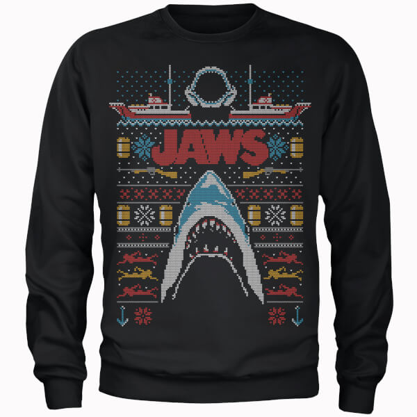 Nerdy Christmas Jumpers Jaws