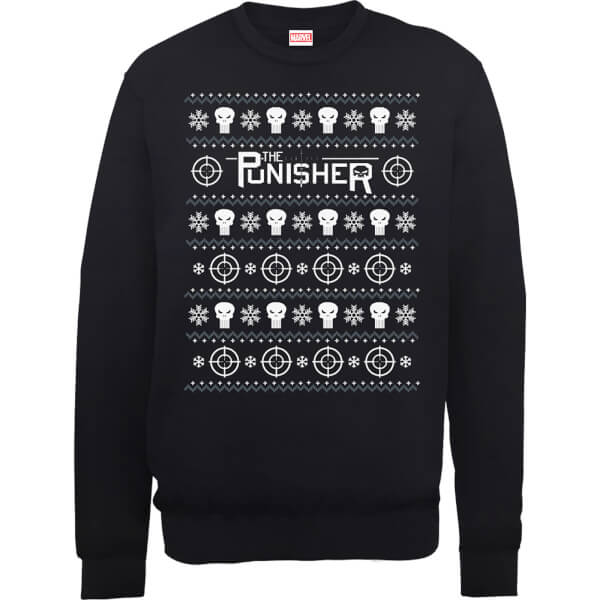 Nerdy Christmas Jumpers Punisher