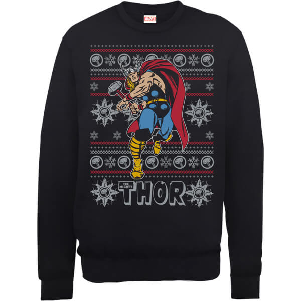 Nerdy Christmas Jumpers Thor